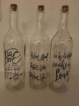 Glasflaschen mit LED Licht