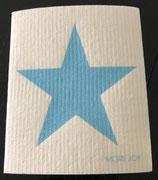 Abwaschlappen Stern Blau