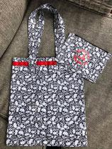 Handgemachte  Stofftasche Totenkopf