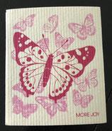 Abwaschlappen Schmetterlinge Pink / Rosa