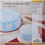 Tortenschablonen Set Eiskristall
