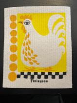 Abwaschlappen Huhn Gelb