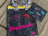 Handgemachte Stofftasche  Vollzeit Prinzessin