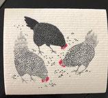 Abwaschlappen Hühner