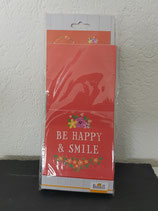 Papiergeschenktüten- Set  Be happy & Smile