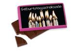 Schokolade Geburtstagschokolade