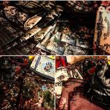 Pochettes velours suédines inspiration baroque et biblique