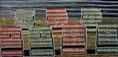 "Postkarte 11 - ""Strand-Korb-Lotterie"" - Farb-Linoldruck - 50 x 90 cm - 2009"