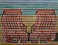 "Postkarte 10 - ""Sternzeichen Sylt - Zwilling"" - Farb-Linoldruck - 51x40,5 cm - 2009"