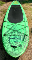 """YOLO YAK hybrid paddle board 11' x 33"""" x 13"""" holds up to 340 lbs custom Artwork good condition"""