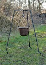 Geschmiedetes Dreibein, ca. 93 cm