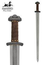 Wikinger-Schwert Godfred mit Damaststahlklinge