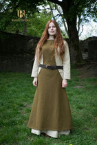 Surcot Albrun Wolle, Herbstgrün