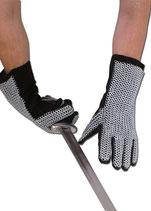 Kettenhandschuhe mit Kettengeflecht, ID6mm, verzinkt