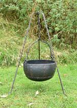 Vernieteter Lagertopf, ca. 29 Liter