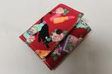 Geldbörse rot mit Katzenmotiv