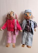 Marionetten Mädchen und Junge