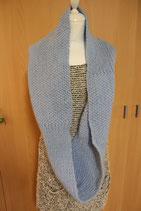 warmer kuscheliger Loop Schal blau mit Merinowolle