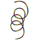 Drachenschwanz Tube Tail Rainbow Spiral 24 m