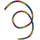Drachenschwanz Tube Tail Rainbow Spiral 6,2 m