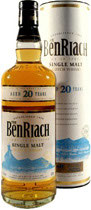 Benriach Whisky 20 Jahre 0,7l 43% weiße Tube