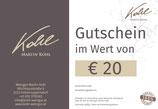 Gutschein im Wert von € 20