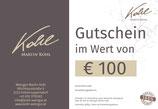 Gutschein im Wert von € 100