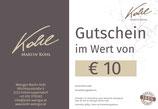 Gutschein im Wert von € 10