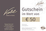 Gutschein im Wert von € 50