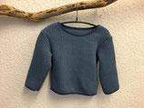 Pullover aus Baumwollstrick Jeansblau Gr.62-116