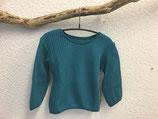 Pullover aus Baumwollstrick in petrol Gr.62-116