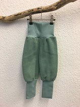 Pumphose aus Baumwollstrick in lindgrün Gr.62-116