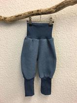Pumphose aus Baumwollstrick in jeansblau Gr.62-116