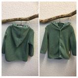 Jacke aus Baumwollstrick Lindgrün Gr.62-116