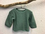 Pullover aus Baumwollstrick Lindgrün Gr.62-116