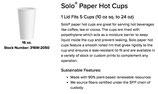 Vaso de papel encerado 16 oz