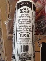 Tapa para vaso encerado Pack100