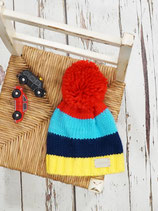 Bobble Hat Bright Stripe