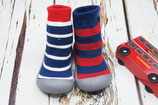 Sock Shoes Blue Stripe