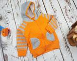 Hoodie Orange & Grey