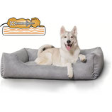 Knuffelwuff Orthopädisches Hundebett aus Velour Amelie