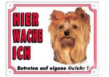 Warntafel Yorkshire Terrier