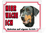 Warntafel Dobermann