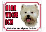 Warntafel West Highland Terrier