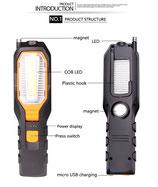 LED Arbeits-Handlampe mit Magnet