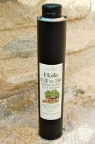 Bidon 1/2 litre  HUILE d'OLIVE VIERGE EXTRA BIOLOGIQUE