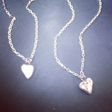 Melted Silver Heart Necklace