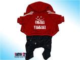 Красный прогулочный костюм - Собака Улыбака KuzyaStyle