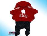 Красный прогулочный костюм - i Dog KuzyaStyle