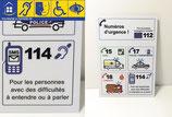 Affichage des numéros d'urgence